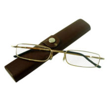 Metal Pen Tube Reading Glasses with Case