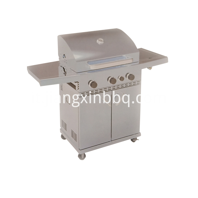 Burner Gas Grill Side View