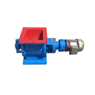 Exhaust valve rotating air lock valve