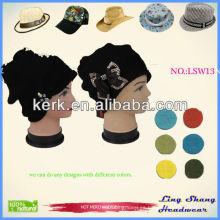 Fábrica de superventas Knit Beanie sombrero de invierno y bufanda Set para el tiempo frío, LSW13