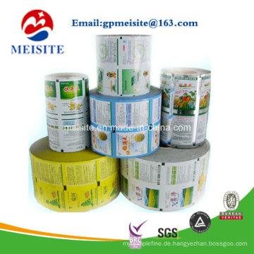 Sicherheit Lebensmittelqualität Kunststoff Flexible Lebensmittelverpackung Mehrschichtfolien in Rolle
