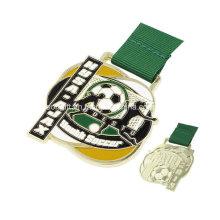 Personalizado esporte futebol propaganda medalha Metal barato