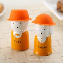 sal y pimienta con sombrero de silicona, azul