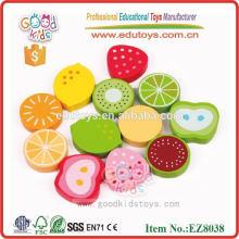 Juguetes de frutas de madera para los niños - juguetes de pegatinas de alimentos