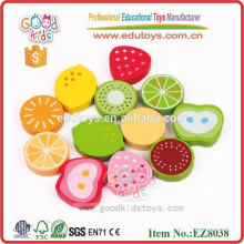 Wooden Fruit Toys For Kids - Food Sticker Toys