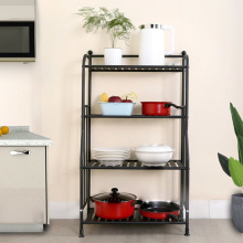 Simple Iron Displaying Metal Kitchen Storage Shelves