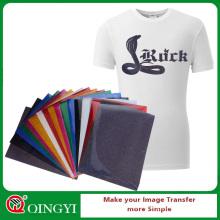 Qingyi vente chaude glitter fer sur des feuilles de vinyle en gros