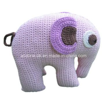 Cute Design Hand Crochet Baby Kid Elephant Pillow Toy
