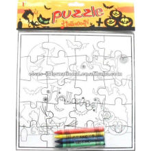 Painting educational jigsaw puzzle game,Color-Me Gumby