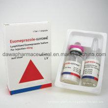 Eficaz contra la droga Ulcera Esomeprazol para inyección de 40 mg