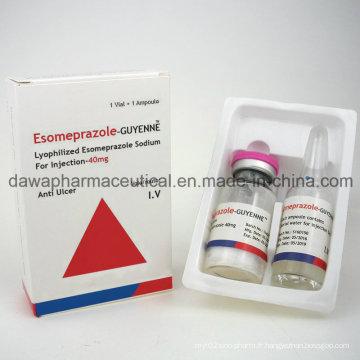 Anti-ulcère de drogue efficace Esomeprazole pour l'injection 40mg