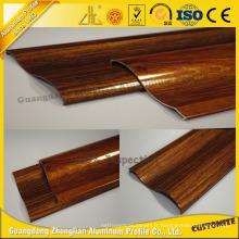 Profil d'extrusion en aluminium à grain de bois