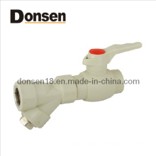 B Type Plastic Ball Valve with Brass Core and Single Female Threaded Filter