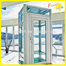 Vvvf puerta corrediza pequeño ascensor de casa costo