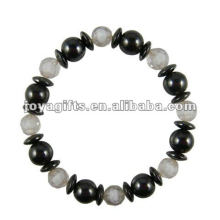 Fashion Hematite Crack Beaded Bracelet