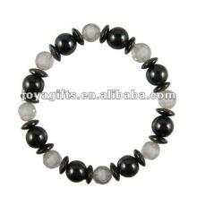 Moda Hematite Crack Beaded Bracelet