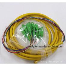 LC / St / LC / FC 6/12/24 Cores Multi-Fibers Bundle Pigtail