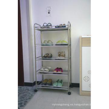 Organizador del almacenaje del estante del cromo del estante de la cocina de 4 capas