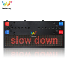 P10 display solar led traffic lighted arrow board