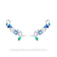 925 Sterling Silber Alice und Blumen Serie voller Mode Ohrringe