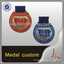 Canadian Round Swimming Custom Medal
