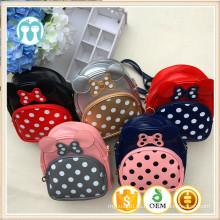 Micky mouse mochilas escolares con puntos preciosos niñas mochila de una pieza para uso diario mochila bolsas con moños y punteados