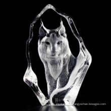 Artisanat délicat cadeaux en cristal figurines animaux