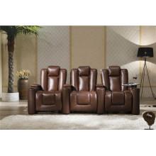 Sofá de la sala de estar con el sofá moderno del cuero genuino (929)