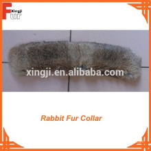 Cuello de piel de conejo de liebre 100% real