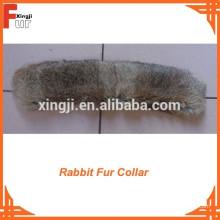 Jaqueta de couro Rabbit Fur trim