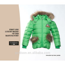 2016 Girl Lovely Winter Children Down Jacket With Fur Hood