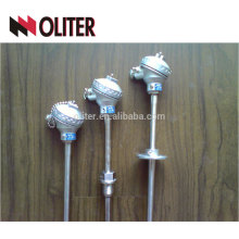 oliter economic type egt standard angled industrial sheathed thermocouple with clamp for oil refineries temperature controller