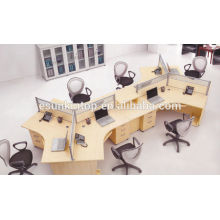 Mesa de trabajo de oficina con pantalla simple, estación de trabajo (KW918)