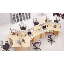 Office works desk with simple screen, workstation (KW918)