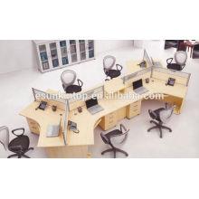 Secretária de escritório com tela simples, estação de trabalho (KW918)