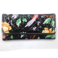 Pastoralisme portefeuille imprimé avec de belles fleurs d'été femmes