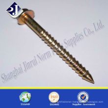 high tensile wood screw yellow zinc for US FASTENAL with TS16949 ISO9001