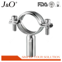 Support de tuyauterie sanitaire en acier inoxydable avec base
