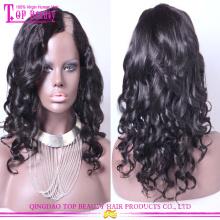 Super encantadora peluca virginal brasileña u parte peluca al por mayor del pelo humano u parte peluca parte lateral u peluca