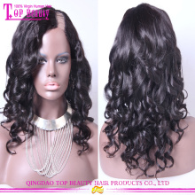 Super charming brazilian virgin hair u part wig wholesale human hair u part wig side part u part wig