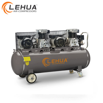 200L/300L 3*2HP 2.2KW Air Compressor with two air compressor heads two electric motors