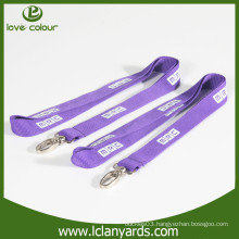 Promotional custom polyester material lanyard with silkscreen printed logo
