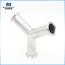 Tamaño personalizado Sujeción 304 / 316L Tee lateral para instalación de tuberías de 45 grados