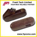 Bambu e madeira estilo flash drive USB com logotipo (d806)