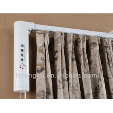 Electrical Retractable Drapery Curtain System Electric Fabric Curtain For Hotel Motorized Curtain Track With Automatic Motor