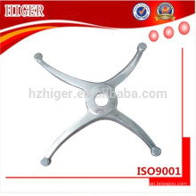 fundición a presión de aluminio de piezas de muebles de pierna de silla