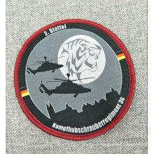 Etiqueta bordada prenda tejida personalizada del bordado