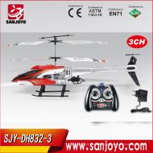 ¡Oferta especial! 2016 fábrica de juguetes de china caliente a 3 canales rc helicóptero de juguete con giroscopio