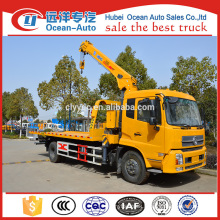 Dongfeng kinrun 6.3ton crane mounted towing wrecker export to Zimbabwe