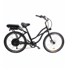 48V 500W Rear Drive Hub Motor LCD Display Beach Cruiser Electric Bike